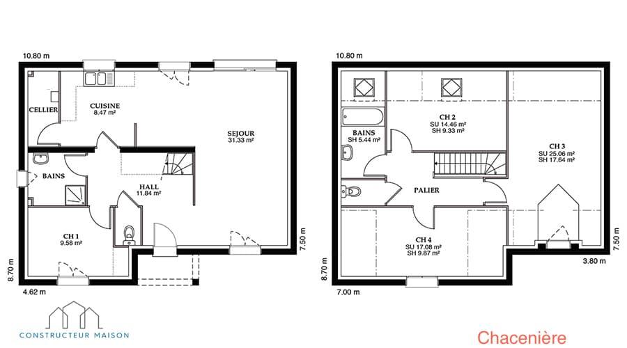 chaceni re maison familiale tage. Black Bedroom Furniture Sets. Home Design Ideas