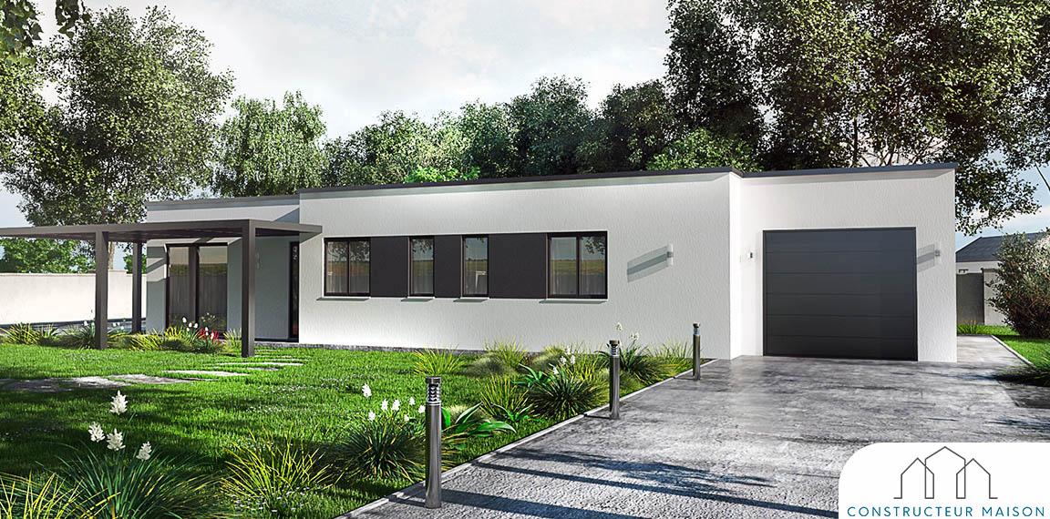 maison contemporaine plain pied - pergolair