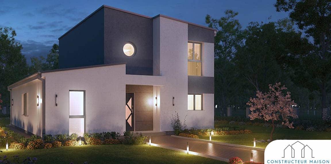 Maison contemporaine pascium nuit